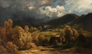 Gewitterlandschaft im bayerischen Gebirge ⋅ um 1860 Image