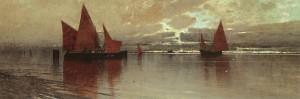 In der Lagune von Venedig ⋅ um 1895 Image