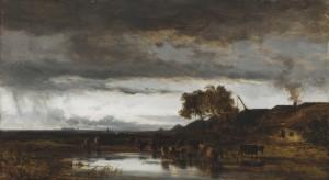 Viehherde an der Tränke ⋅ um 1865 Image