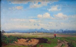 Voralpenlandschaft mit Wendelstein ⋅ um 1850 Image