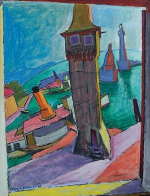 Lindauer Hafen III ⋅ 1920 Image