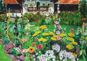 Bauerngarten (Garten des Künstlers in Feldwies) ⋅ um 1950 Image