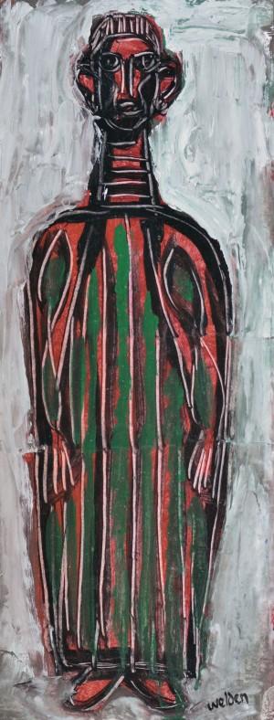 Gestalt mit grüngestreifter Robe ⋅ um 1965 Image