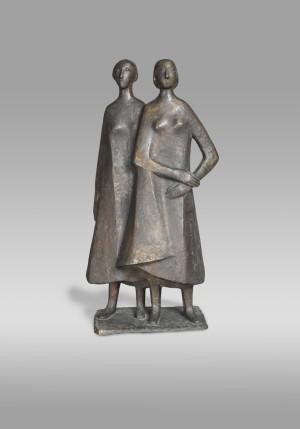 Zwei stehende Mädchen ⋅ 1978 Image