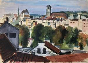 Wasserburg am Inn - Blick vom Magdalenenweg ⋅ 1944 Image