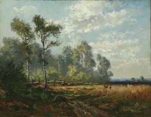 Waldlichtung mit Rehen ⋅ um 1920 Image