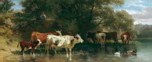 Kühe am Wasser ⋅ 1878 Image