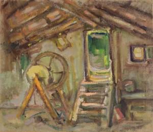 Schleifstein in der Scheune Image