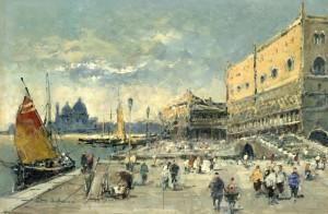 Venedig - Am Dogenpalast ⋅ 1970 Image