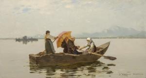 Überfahrt der Mönche ⋅ 1881 Image