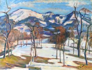 Vorfrühling am Samerberg ⋅ 1946 Image
