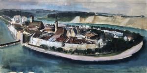 Wasserburg am Inn - Gesamtansicht mit Innschleife Image