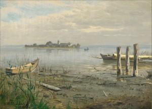 Die Fraueninsel im Chiemsee, gesehen von der Krautinsel ⋅ um 1879 Image