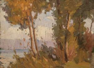 Uferpartie am See ⋅ um 1925 Image