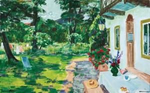 Sommertag am Haus ⋅ um 1950 Image