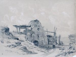Kohlenmeiler im Heutal bei Aresing ⋅ 1858 Image