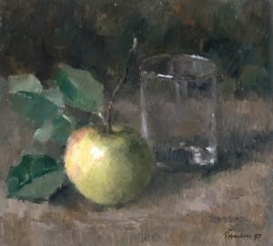 Stillleben mit Apfel und Glas ⋅ 1997 Image