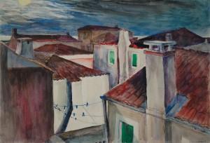 Italien - Mondnacht in San Pietro di Castello ⋅ nach 1950 Image
