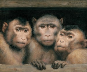 Drei Affen ⋅ 1894 Image