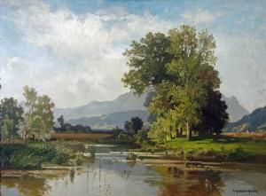 Altwasser am Inn bei Flintsbach ⋅ um 1930 Image