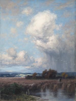Regenschauer im Dachauer Moor ⋅ um 1890 Image