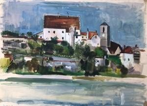 Wasserburg am Inn - Blick auf die Burg und die Pfarrkirche St. Jakob Image