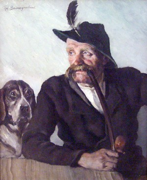 Jäger mit Hund Image