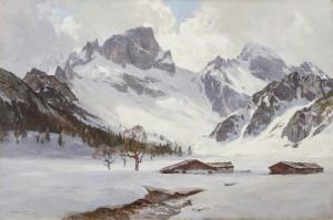 Die Rohntalalm im Karwendel im Winter ⋅ 1917 Image