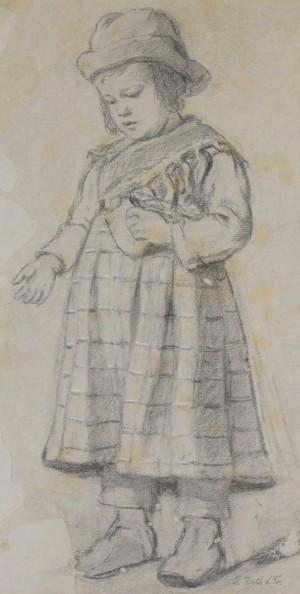 Kleines Mädchen mit Brot Image