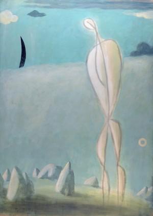 Geneigte Figur in der Landschaft ⋅ 1989 Image