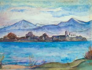 Föhnstimmung am Chiemsee ⋅ um 1950 Image
