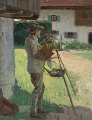 Theodor Hummel beim Malen in Prien-Harras ⋅ um 1925 Image