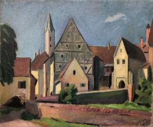 Aus Franken | verso: Berglandschaft mit Kamin ⋅ 1910 Image