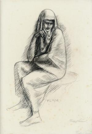 Frau mit Schleier ⋅ 1936 Image