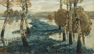 Überschwemmte Salbeifelder in der Poebene ⋅ um 1893 Image