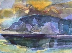 Aufziehende Bora, Dalmatinische Felsküste ⋅ 1996 Image