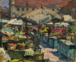 Viktualienmarkt in München ⋅ um 1920 Image