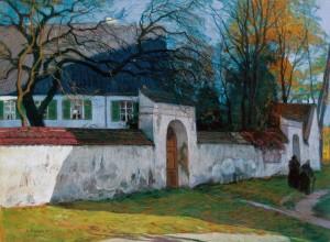 Der Pfarrhof von Beuerberg im Isartal ⋅ um 1920 Image