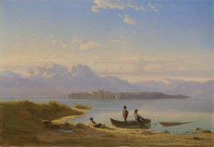 Chiemseefischer vor Herrenchiemsee ⋅ um 1850 Image