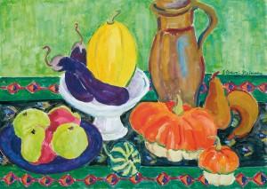 Tischstillleben mit Früchten ⋅ um 1960 Image