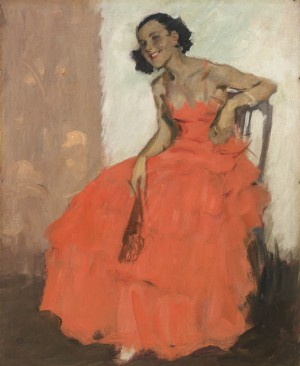 Mädchen im Ballkleid ⋅ um 1930 Image