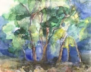 Landschaft mit Pinien, Veli Maj, Istrien ⋅ 2001 Image