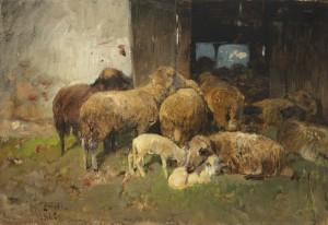 Heimkehr in den Stall ⋅ 1880 Image