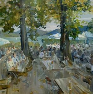 Tegernsee - Biergarten in Kaltenbrunn ⋅ 2003 Image