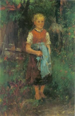 Mädchen im Grünen ⋅ um 1886 Image