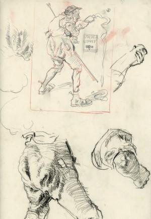 Studienblatt Groeber-Schule ⋅ 1911 Image