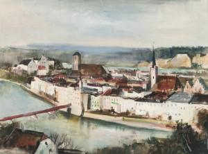 Wasserburg am Inn - Blick von der Innleite aus Image