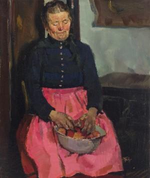 Apfelschälerin ⋅ um 1936 Image