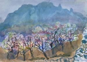 Mandelblüte bei Hoya Grande, Gran Canaria ⋅ 1996 Image