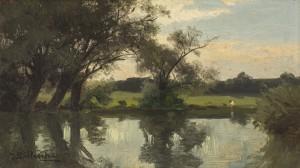 Badende am Teich Image